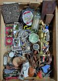 Case Lot of Vintage Collectibles, Medals, Pipes and More