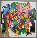 Phyllis Trager Hyman (1936-2011) Acrylic On Canvas 2005