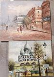 2 Un-Framed Burnett Parisian Street Scenes