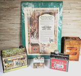 Vintage Towle's Log Cabin Syrup Tins & Banks