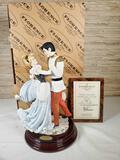 1984 Florence Limited Ed. Walt Disney's Cinderella and the Prince Figurine by Giuseppe Armani