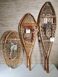 3 Pair of Vintage Snow Shoes