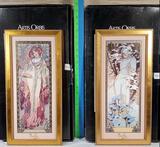 2 Goebel Artis Orbis Mucha Limited Ed. Ceramic Plaques