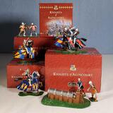 5 Boxed Sets of Britains Medieval Knights of Agincourt Hand Painted Collectible Figurines, MIB