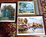 3 SunFest West Palm Beach Signed And Numbered Framed Lithographs