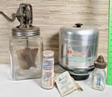 Vintage Dazey Glass Butter Churn & Baby Bottle Sterlizer