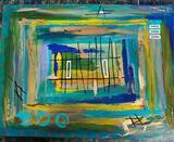 Floridian Artist Su Daitch 2005 Acrylic On Canvas