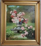 A signed original oil on canvas by Luiolini.