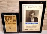 William Shatner Autographed Event Poster & Newspaper Wall Plaque