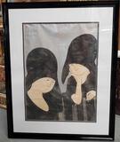 Stephen White (Born 1939) active North Carolina Wood Block Print