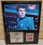 Limited Ed. Star Trek 25th Anniversary Spock Signed Leonard Nimoy Photo Wall Plaque w/ COA