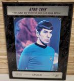 Limited Ed. Star Trek Spock Signed Leonard Nimoy Photo Wall Plaque w/ COA