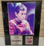 Limited Ed. Star Trek 25th Anniversary Dr. McCoy Signed DeForest Kelley Wall Plaque w/ COA