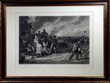 George Caleb Bingham (1811-1879) Civil War Theme Martial Law Engraving by John Sartain, 1872