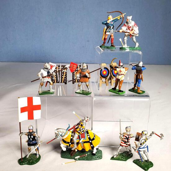 6 Boxed Britains Knights of Agincourt Metal Soldiers