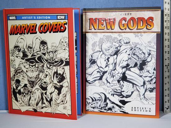 "IDW Artist's Edition Marvel Covers & Jack Kirby New Gods 17"" x 12"" Hard Back Art Book"