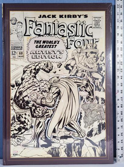 "Marvel IDW Jack Kirby's Fantastic Four The World's Greatest Artist Edition 22"" x 15"" 2017 Hard Back"
