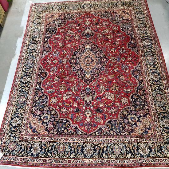 "Gallery Sorage Stock 115"" X 152"" Persian Mashad 100% Wool Pile Rug"