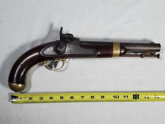 US Model 1842 Percussion Pistol by H Aston