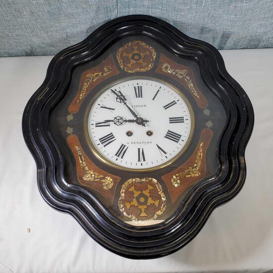Lieger & A. Besancon Wall Hung Regulator Clock