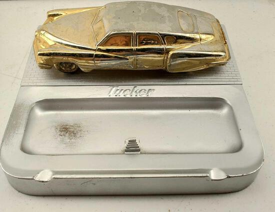 RARE 1948 Tucker 48 Torpedo Showroom Sales Ashtray / Cigarette Box