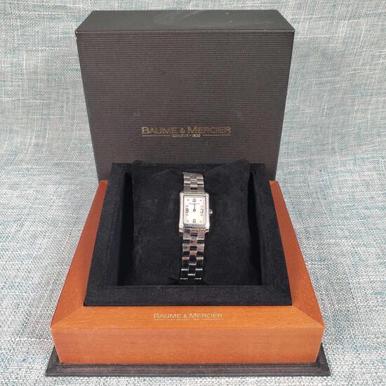 Used Baume & Mercier Hampton Geneve Stainless & Diamonds Authentic Ladies 65564