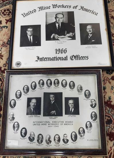 2 Framed United Mine Workers Of Americad Photo Collages