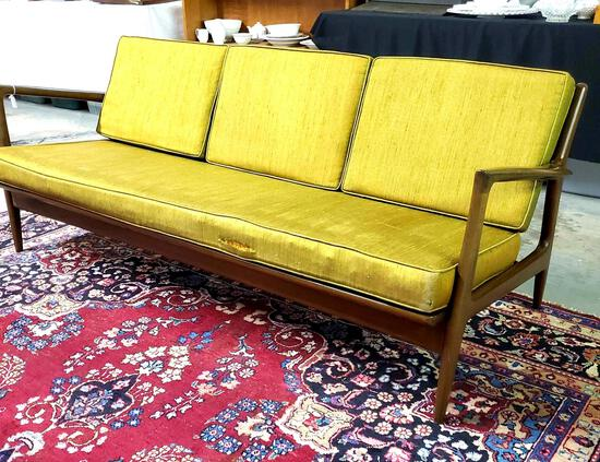 Mid Century Danish Modern Sofa Ib Kofod-Larsen For Selig in Denmark, circa 1960s.