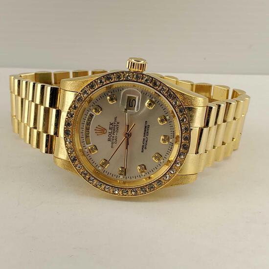 """""""Rolex"""" Replica Oyster Perpetual Day-Date Wrist Watch #16233"""
