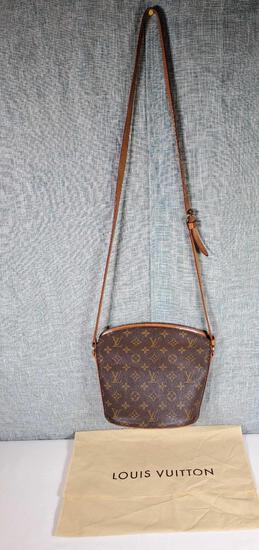 Authenitic Pre-Owned Louis Vuitton Drouot Shoulder Bag with COA