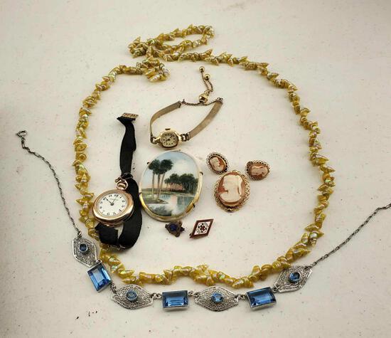 Lot Of Vintage Art Deco Jewelry
