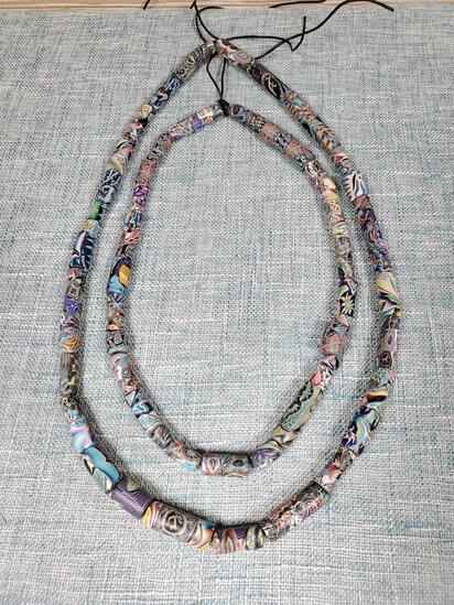 Artisan Fimo Clay Beads Attributed to Artist JSA Jon Stuart Anderson