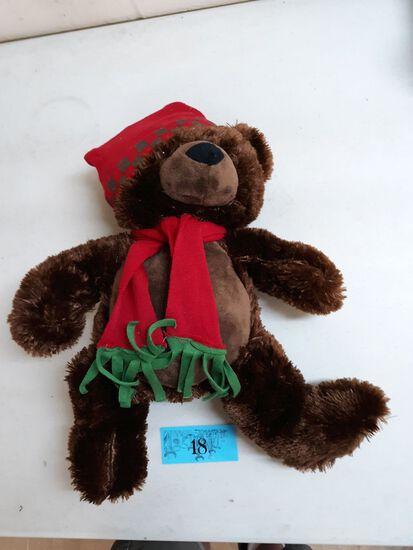 brown christmas bear plush