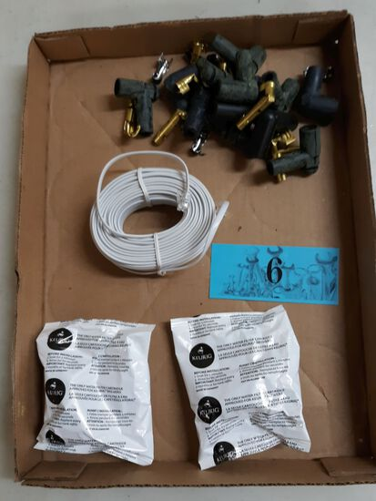 two keurig water filters, phone cable, parts