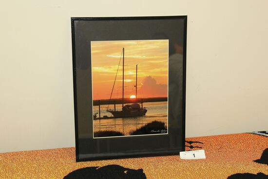 Framed Coastal Sailboat Print by Brandon Adams - 2021