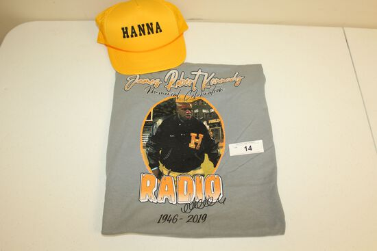 "James Robert Kennedy ""Radio"" Memorial Celebration T-Shirt and Movie Hat"