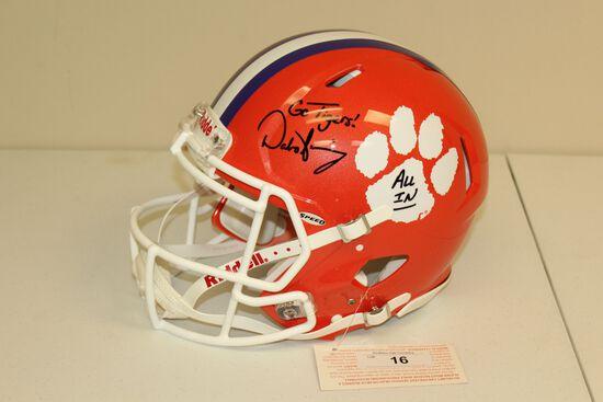 Clemson Tiger Riddell Football Helmet Signed by Dabo Swinney