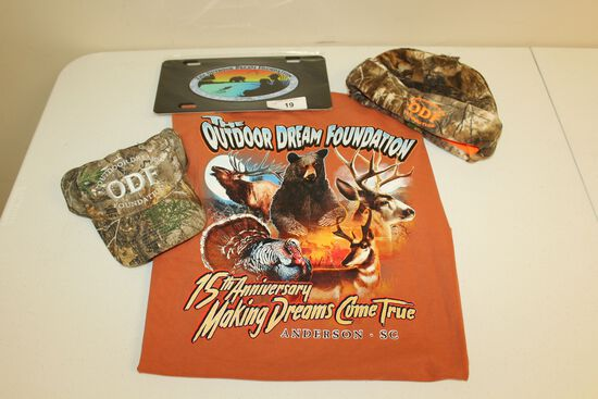 The Outdoor Dream Foundation XL T-Shirt, Hat, Cap and Car Tag!