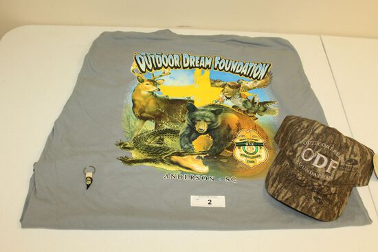 Stan Elrod 2XL T-Shirt, Turkey Spur and Hat by Hank Parker