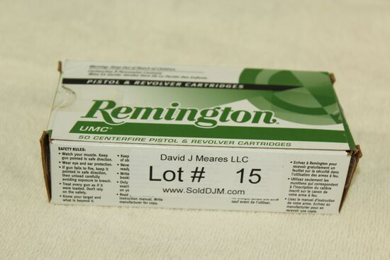 50 Rounds of Remington .380 Auto. 95 Gr. MC Ammo