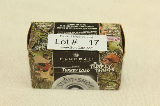 "10 Rounds of Federal .12 Ga. 3"", 6 Shot Magnum Turkey Loads"