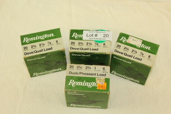 87 Rounds of Remington .20 Ga. Shotgun Ammo