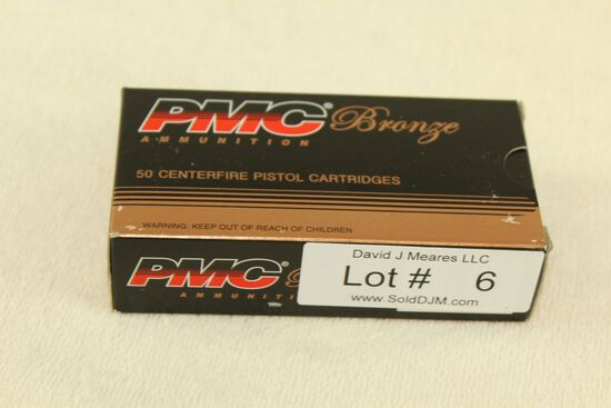 50 Rounds of PMC Bronze 9mm Luger 115 Gr. FMJ Ammo