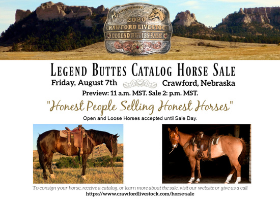 Legend Buttes Catalog Horse Sale