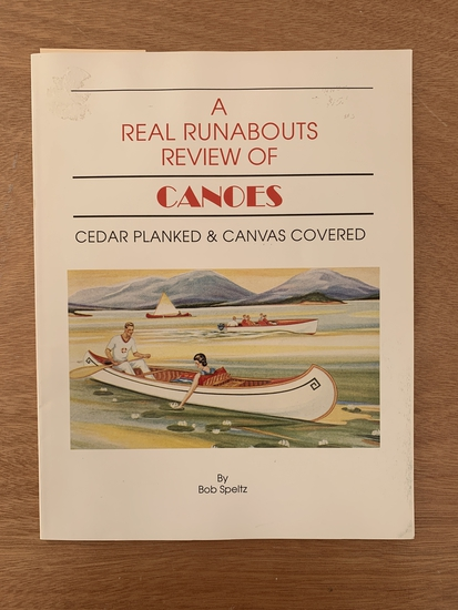 Real Runabout Review of Canoes - Book