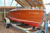 1940 Chris Craft Deluxe Runabout Barrel Round