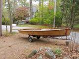 Custom 14 ft Wood Sailboat-