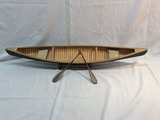 Wood Model of Canoe