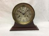 Seth Thomas ships clock on modern stand