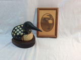 Loon Bookend and Plaque